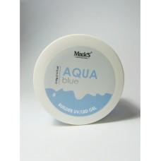 Gel UV/LED Macks Professional, Autonivelant, Aqua Blue Builder, 50g