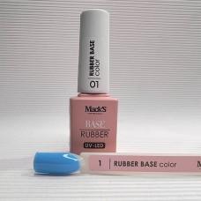 Base coat UV de unghii, 12 ml, Rubber Base Color Macks 01