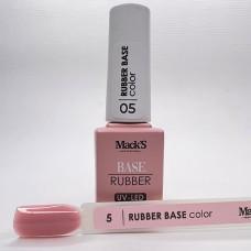 Base coat UV de unghii, 12 ml, Rubber Base Color Macks 05