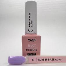 Base coat UV de unghii, 12 ml, Rubber Base Color Macks 06