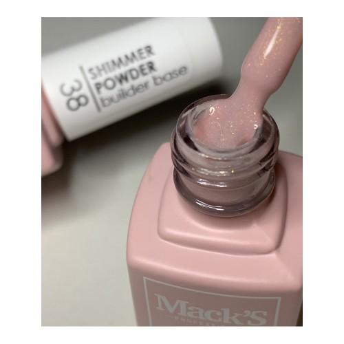Base Cover Macks Professional, 38, Shimmer Powder, 12ml