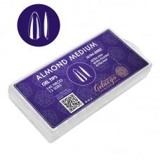Tipsuri pentru Unghii Gel Tips Almond Medium, Set 240 Buc, 12 Marimi