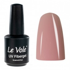 Base Coat, Unghii, Le Vole Fibergel Rosy Pink, 15ml