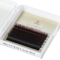 Extensii de gene color Barhat Ombre Red MIX