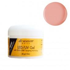 Gel UV/LED, All Season, 3 in 1 Autonivelant, Opaque Pink. 28g