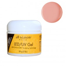 Gel UV/LED, All Season, 3 in 1 Autonivelant, Opaque Pink, 56g