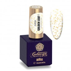 Finish UV de unghii, 15 ml, cu fulgi aurii, GELAXYO GOLDEN LEAF FINISH